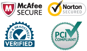 Hot Juice is 100% PCI Compliant, has an A rating and Dun & Bradstreet Verified