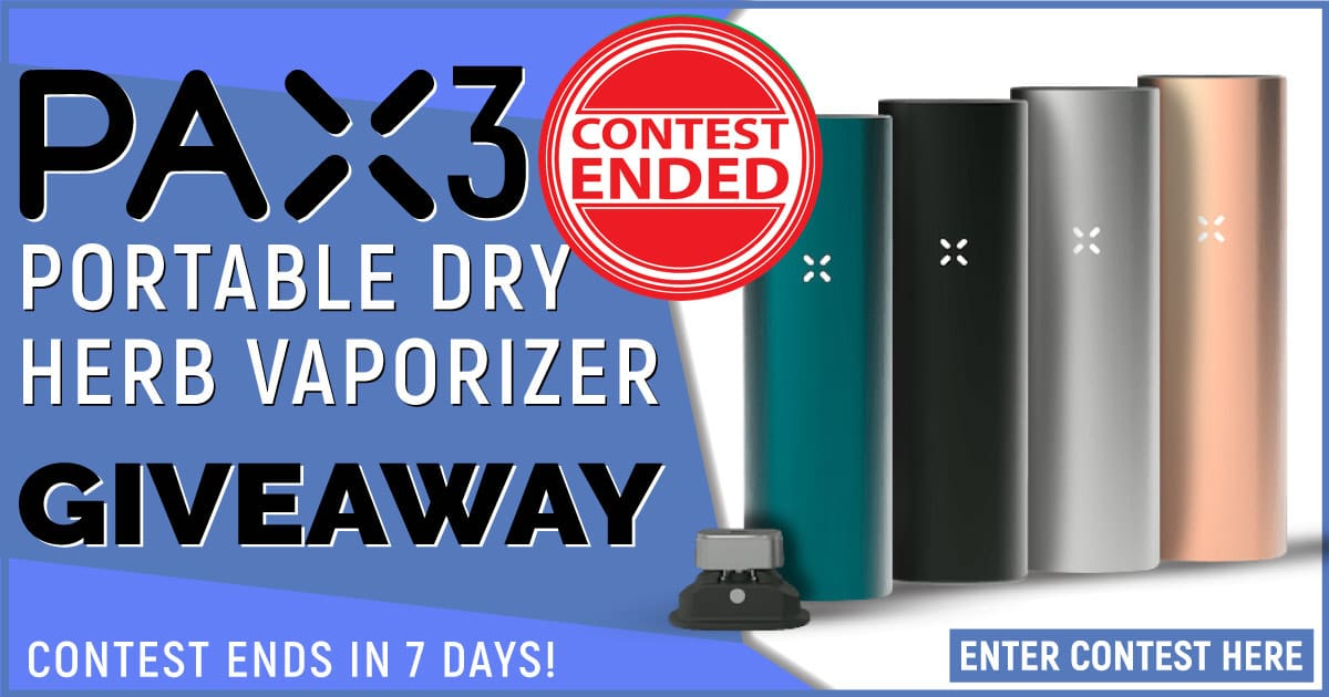 Pax 3 Portable Dry Herb Vaporizer Giveaway