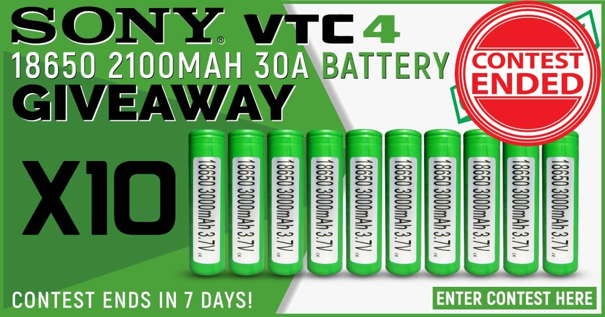 (Ten Pack) Sony VTC4 18650 2100mAh 30A Battery Giveaway